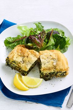 Our healthier version of this classic Greek dish uses reduced fat feta and ricotta so you can cut down on calories without compromising on taste. Easy Vegetarian Lunch, Vegetarian Recipes, Cooking Recipes, Greek Dishes, Spanakopita, Lunches And Dinners, Ricotta, Feta, Dinner Recipes
