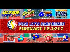 PCSO LOTTO RESULTS FEBRUARY 19, 2017 (EZ2, SWERTRES, 6/49 & 6/58) Lotto Results, Oita, Positive Affirmations, Pop Tarts, Work On Yourself, Youtube, February 3, Youtubers, Youtube Movies