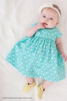 Ava's Geranium Easter dress