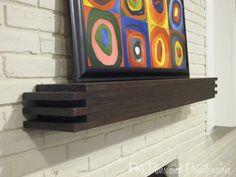 Modern Floating Mantel Shelf | Remodelaholic.com