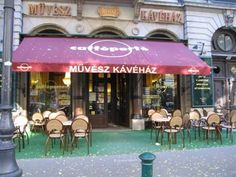 I used to spend hours at the Muvesz (Artist) Cafe on Anrdassy Utca across the Street from the Budapest Opera house.