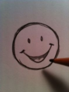 How to Draw a Happy Face By MKayo
