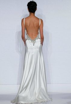 Simple low back gown