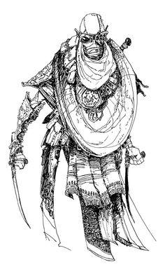 ArtStation - Beyond Skyrim - Foresters' Blades, Mia Cain Elder Scrolls Morrowind, Elder Scrolls Lore, Elder Scrolls Skyrim, Character Art, Character Design, Character Inspiration, Style Inspiration, Segovia Amil, Desert Art