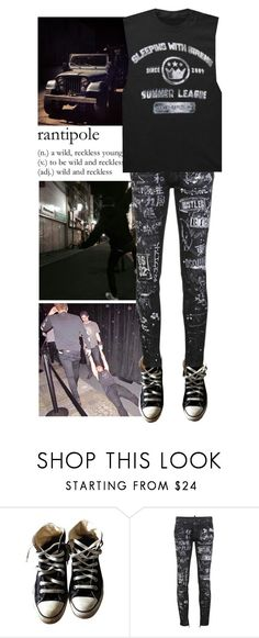 """""""Rantipole"""" by avintagemystery ❤ liked on Polyvore featuring POL, Converse and Dsquared2"""