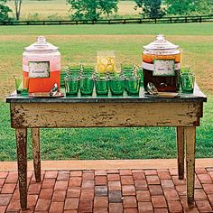 Pink Lemonade and Sweet Tea - Signature Wedding Drinks - Southern Living Cocktail Wedding Reception, Wedding Signature Drinks, Mojito, Lemonade Wedding, Pink Lemonade, Lemonade Drink, Small Intimate Wedding, Intimate Weddings, Babyshower