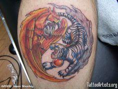 tiger and phoenix tattoo