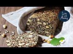 Semínkový chleba s ořechy   pečivo bez lepku a mouky   veganské - YouTube Cini Minis, Snack Recipes, Snacks, Banana Bread, Desserts, Food, Breads, Diet, Tapas Food