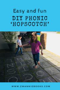 If you have a nice open space outside to draw on with a bit of chalk, then you can also enjoy this little phonic 'hopscotch' game we created. Fun Educational Games, Hopscotch, Phonics, Classroom, Activities, Books, Kids, Class Room, Young Children