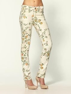 CITIZENS OF HUMANITY Mandy Floral Print Skinny Stretch Jeans Sz 28