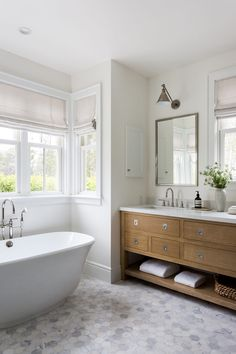 Easy Ways To Love Your Home; Farmhouse Bathroom Decor Ideas As far as home-improvement projects go, it's not the scale of the changes that you make.