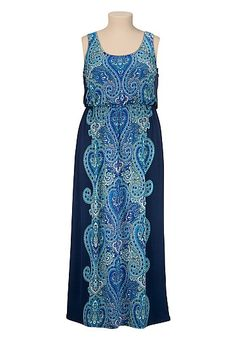 Paisley print plus size maxi dress (original price, $49) available at #Maurices Love this SO MUCH!
