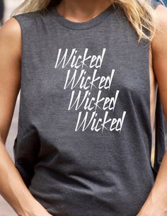 Wicked Graphic Tee Completely Customizable by trendsettersrepublic