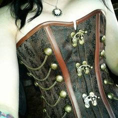 The steampunk corset I'm wearing today :) (Taken with Instagram)