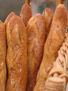 Fresh Baked Baguettes - My mouth is watering just looking at them!