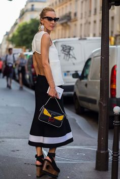 See 5 of the best open-back street-style looks photographed by StyleDuMonde. Then shop the look at every price point.