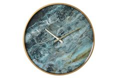 This sharp piece will add a dash of elegance to any room. Contemporary and cool, this blue marble wall clock should be a staple for any room.Size: D: Dia: Material: Marble & Rose-gold effect metal frame Glass Floor Lamp, Arc Floor Lamps, Marble Wall, Marble Print, Brighton, Wire Pendant Light, Blue Wall Clocks, Home Clock, Bubble Chandelier