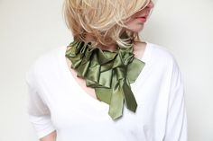 "Katherine Scarf in Olive ""Military Collection"" by Lilian Asterfield"