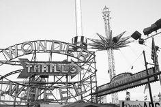 Coney Island - New York Photography - Black and White Print - 8x12 Fine Art Print - Minimalist Wall Decor. by MerakiPaper.