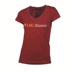 USC Women's Alumni Association V Neck T-Shirt - USC Bookstores