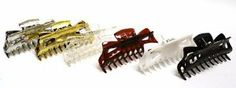 6 Different Colored Large Hair Claws Jumbo Comb by Sea King. Save 48 Off!. $12.99. Spring closure. 6 large hair claws. Colors: Black, White, Silver, Gold, Clear and Amber
