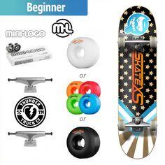 $114 SkateXS Starboard Beginner Complete Skateboard for Kids