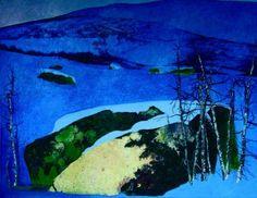 Rolf Nerli Blå morgen 9620 Painting, Art, Mornings, Painting Art, Paintings, Paint, Draw