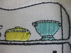 Detail: Retro Kitchen Shelves | Close up of embroidered cola… | Flickr