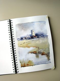 Edo Hannema Watercolorart Sketch on seawhite paper