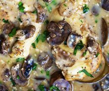 Slow Cooker Chicken Marsala - easy, saucy and flavorful slow cooked chicken in marsala sauce! My preference would be regular Marsala wine, not the cooking type Slow Cooker Chicken Marsala, Slow Cooked Chicken, How To Cook Chicken, Chicken Cooker, Chicken Marsala Recipe Crock Pot, Creamy Chicken, Slow Cook Chicken Recipes, Slow Cooker Chicken Mushroom, Crockpot Chicken Healthy