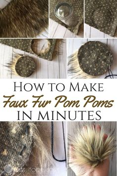 "Faux fur pom poms only take a few minutes to make AND they make for the cutest little ""ears"" on hats instead of crocheting them! Let me show you how."