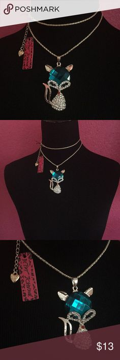 NWT Betsey Johnson fox Rhinestone Necklace New with tags fox Rhinestone Necklace. Betsey Johnson Jewelry Necklaces