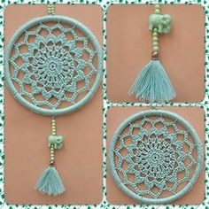 Crochet Mandalas – Page 2 Crochet Home, Love Crochet, Crochet Gifts, Diy Crochet, Crochet Doilies, Crochet Mandala Pattern, Crochet Patterns, Sun Catchers, Dream Catchers