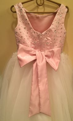 Pink and Ivory Flower Girl Dress Holiday by KingdomBoutiqueUA