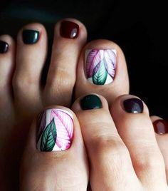 25 Fun Toe Nail Designs Nail Art Lovers Will Appreciate Pedicure Designs, Manicure E Pedicure, Toe Nail Designs, Pedicure Ideas, Easy Toenail Designs, Nails Design, Pretty Pedicures, Pretty Nails, Hair And Nails