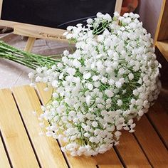 Lot 6pc Silk Artificial Baby Breath Gypsophila Flower Wed…