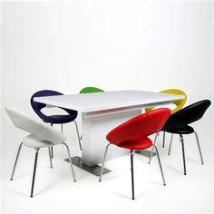 stoły rozkładane, nowoczesne stoły do kuchni jadalni. Meble Bydgoszcz Brick, Chair, Furniture, Home Decor, Decoration Home, Room Decor, Home Furnishings, Bricks, Stool