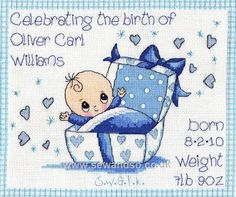 Brand New Special Little Person - Boy Cross Stitch Cards, Cross Stitching, Cross Stitch Embroidery, Baby Cross Stitch Patterns, Cross Stitch Baby, Cross Stitch Pictures, Knitted Baby Blankets, Kids Patterns, Embroidery Techniques