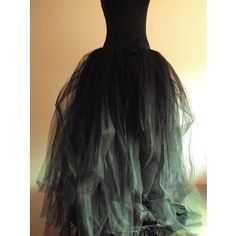tulle witch dress   Black Tulle Skirt Halloween Goth Steampunk Witch size 4 10 U.S. 6 12 U ...