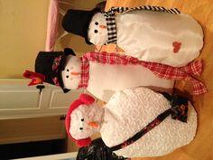 Home made snowmen