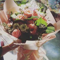 오늘 팔린  내가 만든 꽃다발 ^^ #장미꽃다발 #장미 #크리스마스이브 #은평롯데몰 #페이지그린 #꽃다발