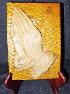 Vintage Black Forest German Wood Carving Albrecht Durer Praying Hands Signed    eBay
