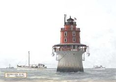 Miah Maull Light, DE. Bay - 1921  (up bay from Brandywine)