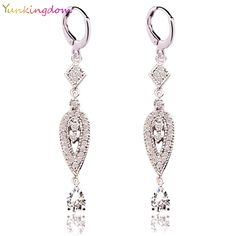 $12.90 Yunkingdom 2 Colors Vintage Eardrop Earrings for Women  Zircon Crystal Long Earring Earings Women Jewelry Gifts    Go shopping now!     Visit us @ https://www.feseldo.com    FREE Shipping    #Feseldo #Fashion #OnlineShopping #Men #Women #Discount