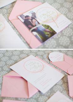 Vintage, rustic wedding invitations
