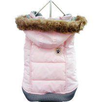 FouFou Dog Foubis Dog Coat, Baby Pink, 3X-Large