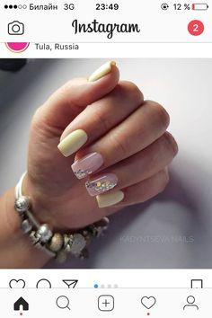 Cute Gel Nails, Cute Pink Nails, Precious Nails, Yellow Nails Design, Diva Nails, Thanksgiving Nails, Minimalist Nails, Heart Nails, Accent Nails
