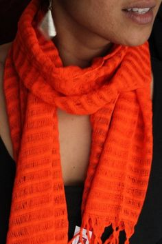 Perfect colors for fall! Handwoven in rural Mexico, 100% cotton. $23 on Ethical Ocean. #scarf