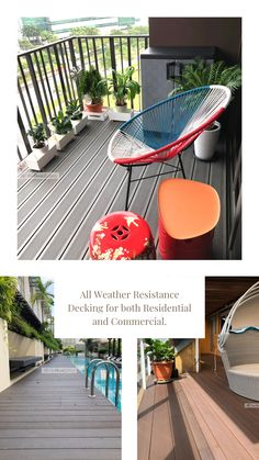 Build a beautiful patio deck perfect for repose and family bonding moments by upgrading your outdoor flooring and decking. Outdoor Decking, Outdoor Flooring, Outdoor Decor, Decking Supplies, Balcony Deck, Decks, Singapore, Commercial, Weather