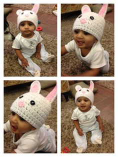 c7bd0fb0725 Items similar to Crochet Bunny Rabbit Easter Hat on Etsy